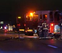 Suspected drunk driver in critical condition after hitting Dallas fire truck