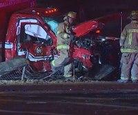 2 Texas paramedics hurt after truck crashes into ambulance