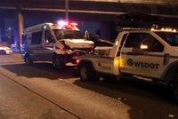 Wash. ambulance crashes after patient hijacks rig