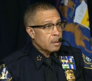 Detroit Police Chief James Craig announced a civilian 911 dispatcher has died from COVID-19. (Photo/TNS)