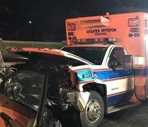 Lawrence Vanburen-Morgan, who pleaded guilty to crashing into an ambulance and injuring two EMTs and a patient will be spending between three days and six months in prison.