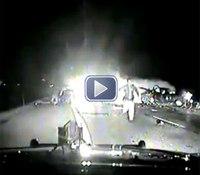 Video: Trooper's dash cam captures deadly wrong-way crash