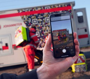 Johanniter-Unfall-Hilfe in Germany outfitted ambulances and equipment with QR codes that trigger a warning to