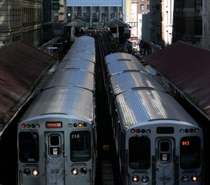 A spike in crime on Chicago's rail system and some recent high profile outbursts of violence has prompted the city's police department to put dozens more officers in trains and on platforms.