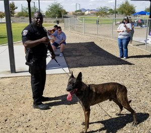 Officer Craig Curry and K-9 Ike.