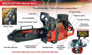 2100 Series MULTI-CUT Fire Rescue Saws and BULLET  Chain