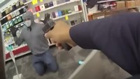 Video: Police interrupt armed robbery at CVS