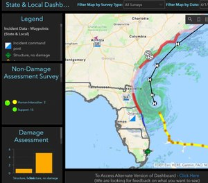 The tool is based on an ESRI Survey 123 application that allows first responders to capture real-time information on a dashboard, enabling command leadership to see where resources are needed the most. (Photo/IAFC)