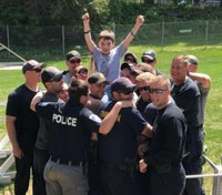 10-year-old 'donut boy' travels across country to thank cops