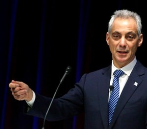 In this Thursday, Dec. 3, 2015, file photo Chicago Mayor Rahm Emanuel speaks in Chicago. (AP Photo/M. Spencer Green File)