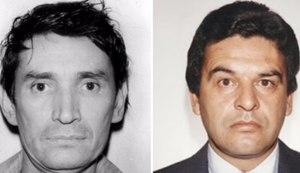 Miguel Angel Felix Gallardo, left, and DEA Agent Enrique
