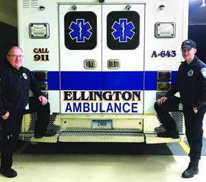 Brendan Elliott is a 19-year-old EMT, college student and the NAEMT advocacy coordinator for Connecticut. Ed Landsberg, 62, became an EMT a couple of years ago after raising a family and spending four decades working in the printing business. (Photo/NAEMT)