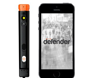 The Defender device works in collaboration with the Defender app. (Photo courtesy Pangaea, Inc.)