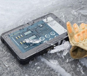 For severe temperatures, the Rugged Tablet comes with a thermal management system.