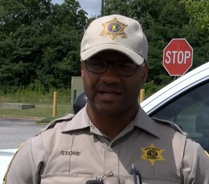 Lee County Deputy Manuel Stone was moved when a group of teenagers left him a note, saying they had bought his lunch and thanked him for his service. (Photo/WRBL)