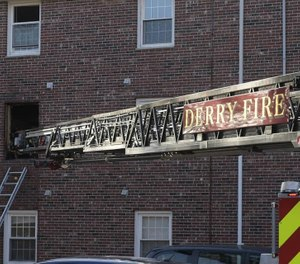 The Derry Fire Department said one firefighter was injured at the scene of an apartment fire that was caused by discarded cigarettes. (Photo/Derry, NH Fire Department Facebook)