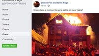 Detroit fire commissioner investigating after FFs take selfie in front of burning house