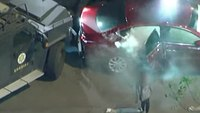 Video: 9-year-old girl emerges from car after pursuit, standoff, surprising LE