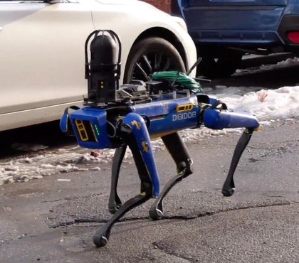 Video: NYPD tests robot dog at crime scene