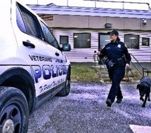 Doggone good: VA police dog, handler help ensure Veteran safety at hospitals. (Photo/VA)