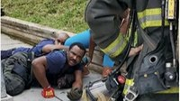 DC FF injured stopping dog attack at fire