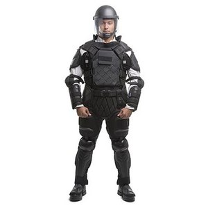 The TacCommander Riot Control Suit, an adjustable suit that fits 95 percent of the world's different body types and shapes. (image/Sirchie)