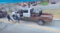 Video: Chick-fil-A customer whips open truck door to stop fleeing suspect