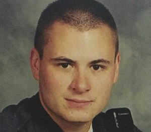 Chief Mike Diebold was burned and suffered from the traumatic amputation of his left arm below the elbow after a near-fatal fireworks explosion. (Photo/Leechburg PD)