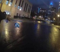 Video shows ambush outside NC police headquarters