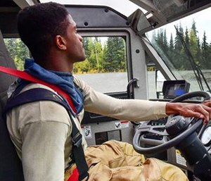 Driving emergency apparatus is a serious responsibility. (Photo/U.S. Department of Defense)