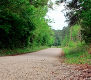 section of Huff Creek Road in Jasper, Texas, where James Byrd Jr., who was black, was dragged to death by three white men in what is considered one of the most gruesome hate crime murders in recent Texas history. (AP Photo/Juan Lozano)