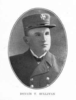 San Francisco Fire Chief Dennis T. Sullivan was killed in a building collapse after the Great Earthquake, but his advocacy for a separate emergency water supply lived on inimprovements made after the quake.