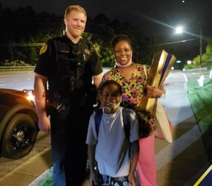 A Duluth officer paid an Uber for a mother and son whose car broke down in Duluth, Georgia on June 30, 2020. (Photo/Duluth Police Department)