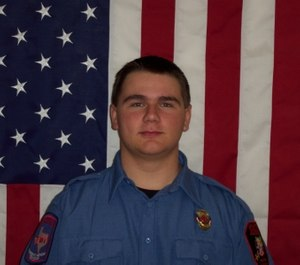Granite Shoals Firefighter-EMT Dustin Short was seriously injured rescuing a person from a burning building while off duty on Tuesday. (Photo/Granite Shoals Fire Rescue)