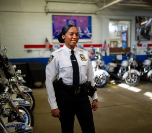 Newly appointed Highway 1 Commander, Lashonda Dyce, 38, photographed inside Highway 1 Headquarters, in the Bronx, N.Y. (Photo/TNS)