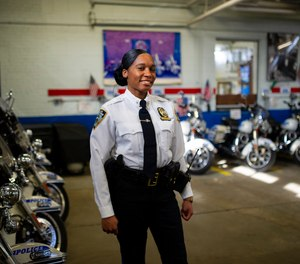 Newly appointed Highway 1 Commander, Lashonda Dyce, 38, photographed inside Highway 1 Headquarters, in the Bronx, N.Y.