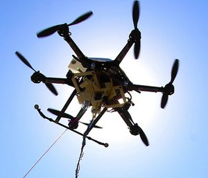 An experimental study in Sweden suggests drones equipped with heart defibrillators could help with response times for out-of-hospital cardiac arrest. Drones arrived at the scene of cardiac arrests almost 17 minutes faster on average than ambulances in a study in rural Sweden. (AP Photo/Nati Harnik)