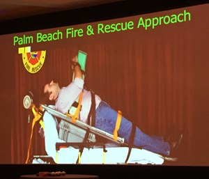Initial implementation by Palm Beach Fire Rescue shows heads-elevated CPR is feasible and with other CPR response improvements patient survival is increasing. (Photo by Greg Friese)