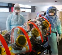 Photo of the Week: Training drill - Transporting a patient with Ebola
