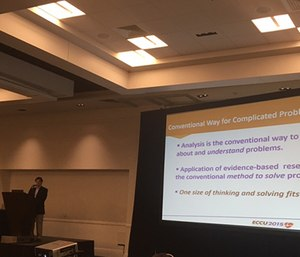 Larry M. Starr challenges health care practitioners to think outside the box at the 2015 Emergency Cardiovascular Care Update.