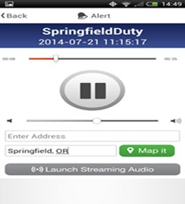An audio dispatch can be sent to a user's phone using eDispatches. (Image eDispatches)
