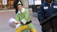 Responder dresses as Buddy the Elf, challenges locals to pillow fights