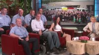 Video: Firefighter with ALS featured on DeGeneres show