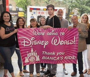 Yadira Arroyo's family is all smiles after being gifted with a week-long trip to Disney World