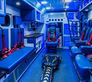 A customized CCT ambulance for Duke Life Flight by Braun Ambulances.