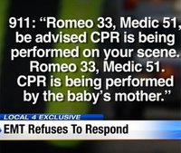 Detroit EMT refuses to respond to infant in cardiac arrest