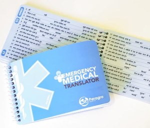 A paramedic compiled a new tool to communicate with patients who don't speak English. (Photo/Indiegogo)