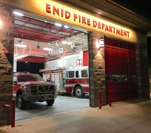 The Enid Fire Department received $6,000 from Koch Fertilizer, which praised the department for protecting the community and the company's Enid site. Enid/Garfield County Emergency Management also received a $4,000 donation from Koch. (Photo/Enid Fire Department Facebook)