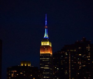 The Empire State Building will get in the EMS Week spirit by lighting the tower Monday at sunset. (Photo/FDNY)