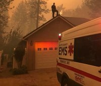 Responders create makeshift hospital for evacuated patients in Calif. wildfire